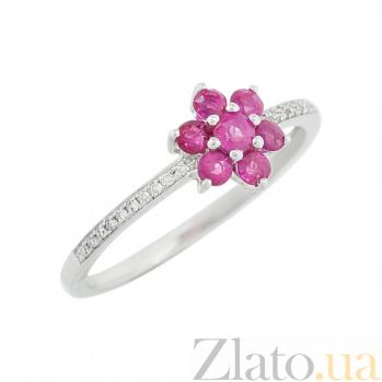 Золотое кольцо с рубинами и бриллиантами Иветта 1К551-0152