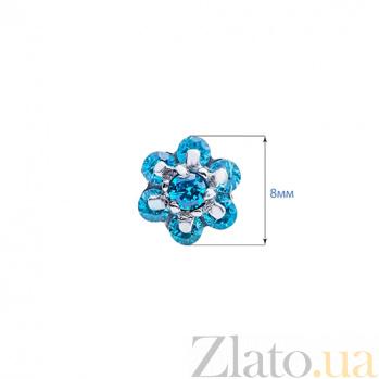 Серебряные серьги гвоздики Гаяна AQA--Тпс-520241г