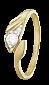 Серебряное кольцо с фианитом Анникен 000025643