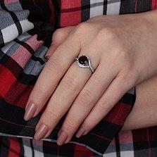 Серебряное кольцо Фиона с раухтопазом и фианитами