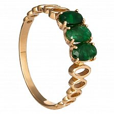 Золотое кольцо Исландия с изумрудами