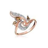 Серебряное кольцо Жюлиет с фианитами и позолотой