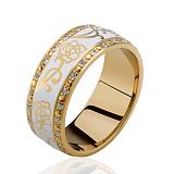 Обручальное кольцо Настоящая любовь с эмалью и бриллиантами