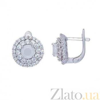 Серьги серебряные Зоя AQA--RJ2846-E