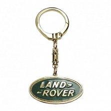 Золотой брелок Land Rover с эмалью