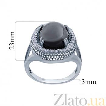Серебряное кольцо с ониксом Покров ночи AQA--SJT-921-R_akv