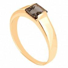 Золотое кольцо с раухтопазом Аделина