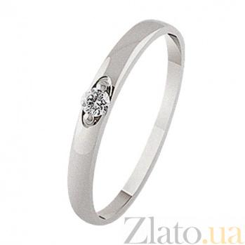 Золотое кольцо Признание с бриллиантом KBL--К1964/бел/брилл