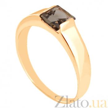 Золотое кольцо с раухтопазом Аделина VLN--112-186-2
