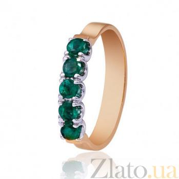 Золотое кольцо Симфония с изумрудами  EDM--КД7408СМАРАГД