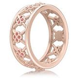 Кольцо Восторг: Нектар Жизни с розовыми сапфирами