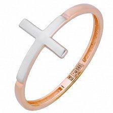 Золотое фаланговое кольцо Крест