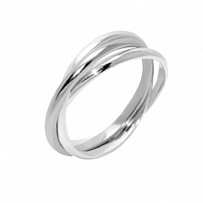 Обручальное кольцо Тринити из серебра