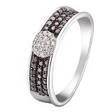 Кольцо в белом золоте Шик с бриллиантами