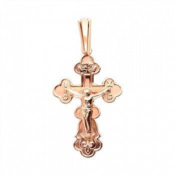 Крестик Моя радость в красном золоте 000130088
