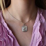 Серебряная штампованная ладанка Богородица Семистрельная