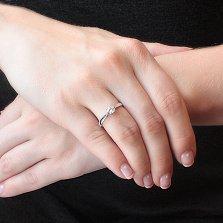 Золотое кольцо из белого золота Эльмира