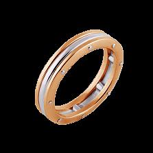 Кольцо Линии судьбы из красного и белого золота (женское)