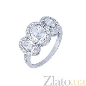 Кольцо серебряное с цирконами Доминика AQA--JR-0703-R1