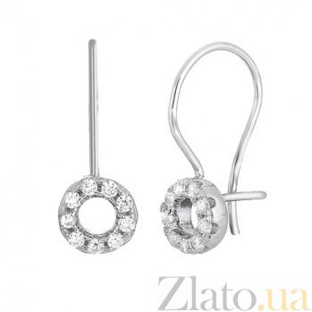 Серьги из серебра с фианитами Donat SLX--С2Ф/198