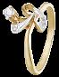 Серебряное кольцо с фианитами Соледад 000025647