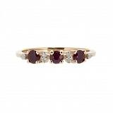 Кольцо из красного золота с рубином и бриллиантами Сандра