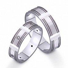 Золотое обручальное кольцо Винтаж с фианитами