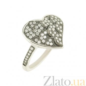 Серебряное кольцо с цирконием Ажур 3К543-0170