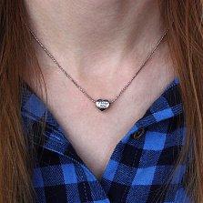 Серебряная подвеска-шарм I Love You в форме сердца