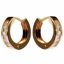 Золотые серьги Киара