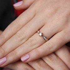 Кольцо из красного золота Virgo с бриллиантами
