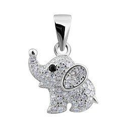 Серебряная подвеска Мышка с фианитами 000132530