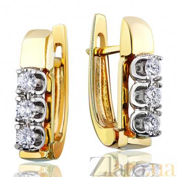 Золотые серьги с бриллиантами Рената EDM--С7408/2