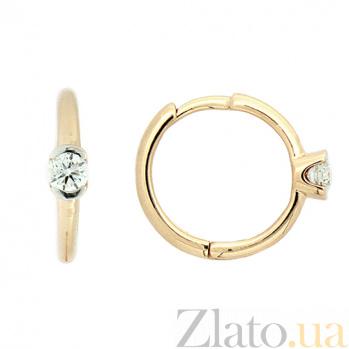 Золотые серьги с бриллиантами Пилар ZMX--ED-6750_K