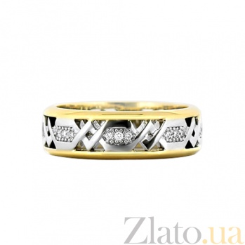 Золотое кольцо с бриллиантами Солнечная колесница 000029631