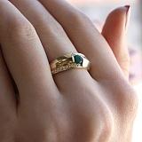 Золотое кольцо Альтани с изумрудом и бриллиантами