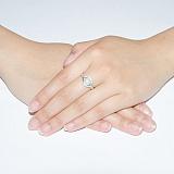 Серебряное кольцо Мия с жемчугом