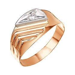 Золотое кольцо с цирконием 000046698