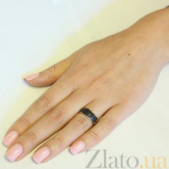 Золотое кольцо с черным цирконием Гюзель SVA--1730971/Фианит/Цирконий