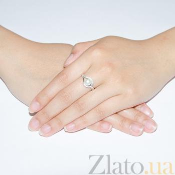 Серебряное кольцо Мия с жемчугом 1770/9р б жем