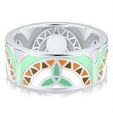 Обручальное кольцо из белого золота Талисман: Жизни