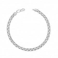 Серебряный браслет Мариус с чернением, 5мм