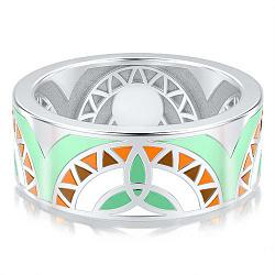 Обручальное кольцо из белого золота Талисман: Жизни 000009260