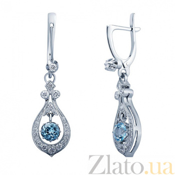 Серьги с топазами и бриллиантами Francie AQA--с011бT