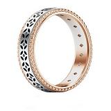 Обручальное кольцо Калейдоскоп Любви: Карусель фантазий из розового и белого золота с бриллиантами
