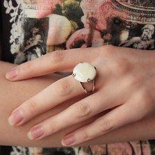 Серебряное кольцо Гардения с перламутром
