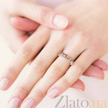 Кольцо из розового золота с бриллиантами Долина грез: Роса на цветах 387