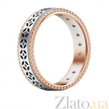 Обручальное кольцо Калейдоскоп Любви: Карусель фантазий из розового и белого золота с бриллиантами 1333