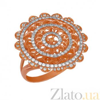 Кольцо из красного золота Астра с цирконами VLT--ТТ1016-2
