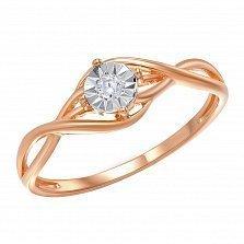 Кольцо из красного золота Легкость танца с бриллиантом